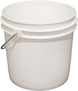 2 Gallon Plastic Fermenting Bucket with Lid - 4-Pack