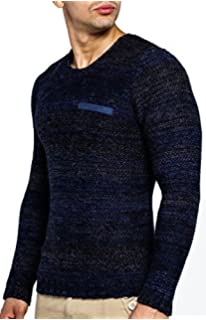 LEIF NELSON Mens Knitted Pullover Sweater LN20719