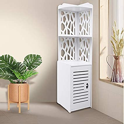 Floor Cabinet Hollow Out Slim Bathroom Cabinets Tall Bathroom Corner Cabinet Free Standing Bathroom Cupboard Waterproof Standing Corner Shelf Storage Rack Half Corner Unit White 120 X 29 X 29cm Amazon Co Uk Kitchen Home