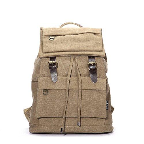 teachay Popular Canvas Men's Casual Sports Daypack Book Bag Backpack School Bag Outdoor Black - 1950 Costumes Nz