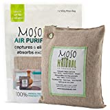 Moso Natural Air Purifying Bag 500-Grams. Natural Color. Natural Odor Eliminator. Fragrance Free, Chemical Free, Odor Absorber. Captures and Eliminates Odors.