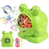 Automatic Frog Bubble Blower Machine Make Bubbles for Kids Birthday Party, Wedding, Indoor and Outdoor Games