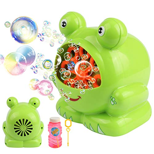 Automatic Frog Bubble Blower Machine Make Bubbles for Kids Birthday Party, Wedding, Indoor and Outdoor Games by Kidcheer