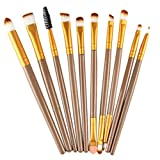 urban hair brush - Brush Sets ,BeautyVan 2018 New Fashion 10 pcs Makeup tools Eye Shadow Foundation Make-up Toiletry Kit Wool Make Up Brush Set (Gold)