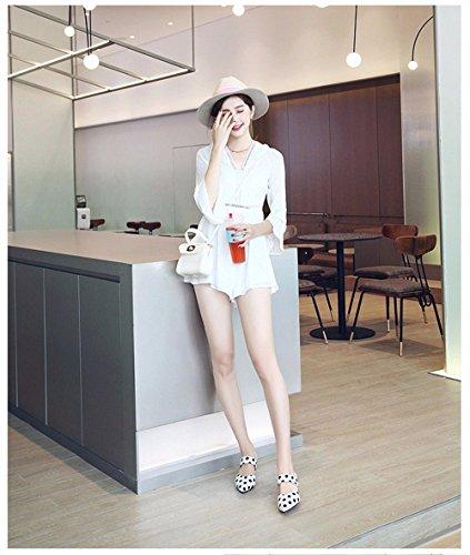 All'Aperto BTBTAV Piatto 39 Pantofole Codice Scivolo European D'Estate Code Lady Con Bianco Europeo White 35 Fondo A AUHUwqnE
