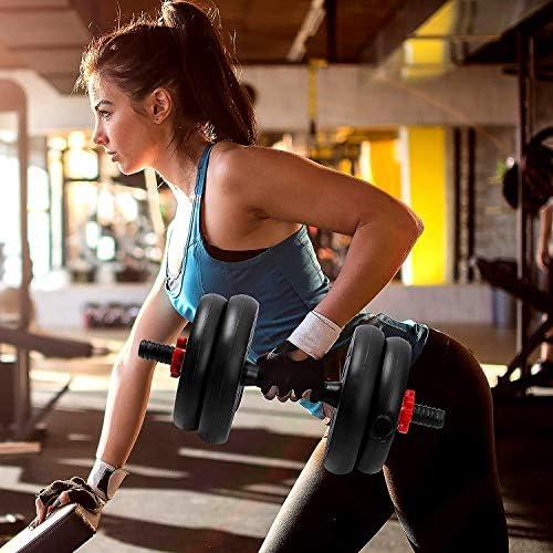 2pcs Dumbbell Bars Durable Dumbbell Handle Dumbbell Bars Barbell Handle for Training Sport Workout Gym