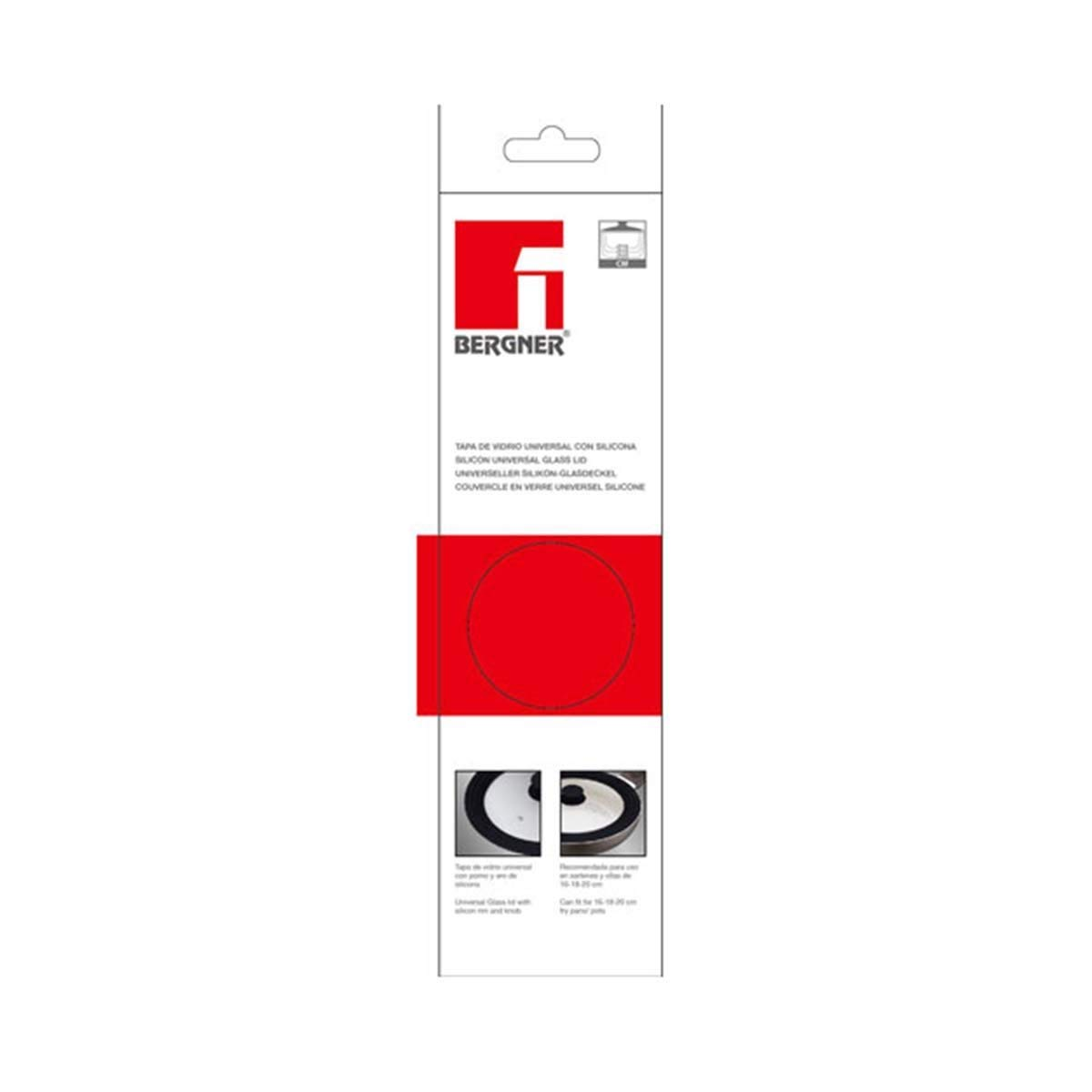 KAISERHOFF Tapa Universal de Vidrio, 16, 1 y 20 cm