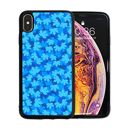 Blue Toronto Pearl (Beautiful Blue Mmaple Leaf iPhone Xs Max Protective Case Soft TPU Pearl Plate Shock Case for iPhone Xs Max 6.5 Inches)