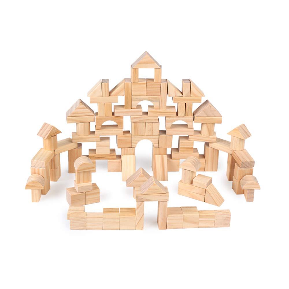 Canyixiu 木製 子供用 100ログ 環境保護 組み立てブロック 早期教育玩具 誕生日プレゼント 子供向けおもちゃ   B07H29Y639