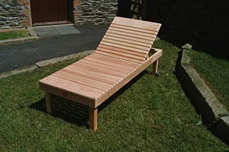 Magnificent Douglas Fir Chunky Sun Lounger With Tanalised Finish Bralicious Painted Fabric Chair Ideas Braliciousco
