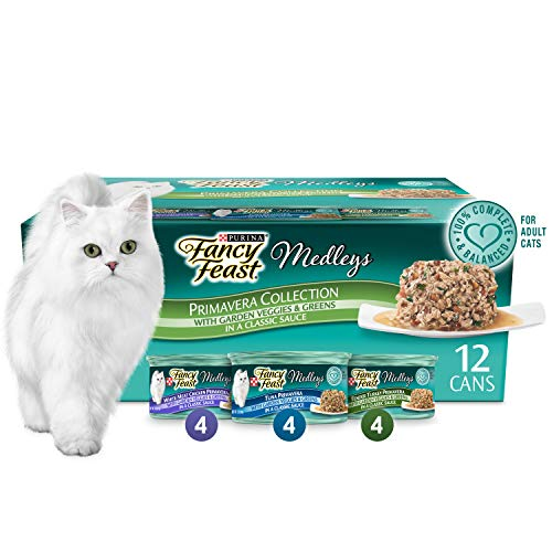 Purina Fancy Feast Gravy Wet Cat Food Variety Pack; Medleys Primavera Collection  - (2 Packs of 12) 3 oz. Cans (Fancy Feast Cat Food In Gravy)