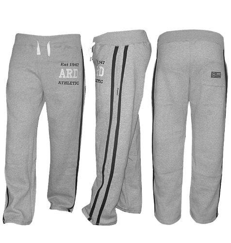 ARD-Champs Men's Fleece Jogger Pant Sweatpant Track Suit Bottom Jogging Exercise Fitness Boxing MMA Gym Sweat Cotton Fleece Trousers (Grey, XL) ()
