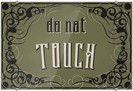 CGSignLab 18x12 Do Not Touch 5-Pack Victorian Gothic Premium Acrylic Sign