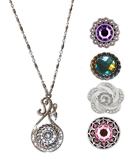 Hidden Hollow Beads Snap Interchangeable Jewelry Necklace, Women's Fashion Snap Jewelry, 18