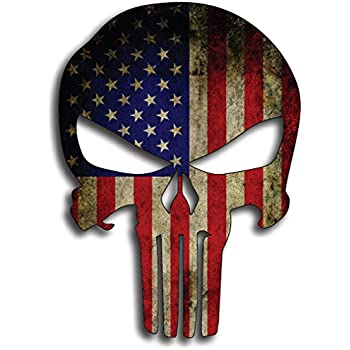 Amazoncom Punisher K Skull Vinyl Decal Sticker X Red - Boat decalsamerican flag boat decals usa flag boat graphics xtreme digital