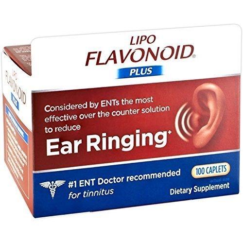 Lipoflavonoid Plus Unique Ear Health 100 Caplets (2 Pack) by (One Caplets)