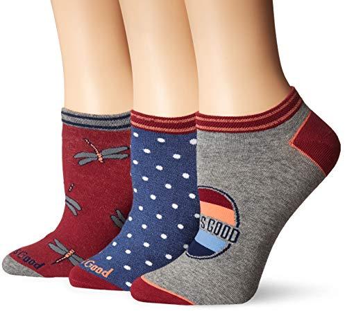 - Life is Good Women's 3-Pack Low Cut Socks, One Size, Dragonflies Fuchsia