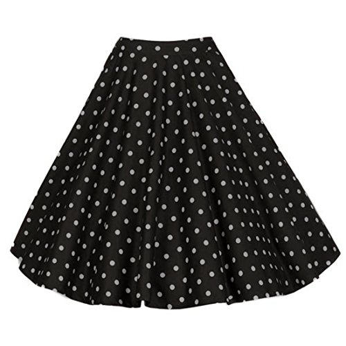 Relipop Women Floral Pleated Knee Length A-line Skirt (XX-Large, Type 1)