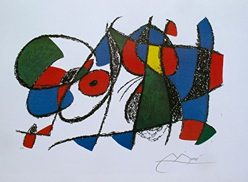 Wall Art by Joan Miro Volume Ii, Litho VIII Facsimile Signed Limited Edition Lithograph Print. After the Original Painting or Drawing. Measures 18.5 Inches X 24