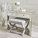 #6: Christopher Knight Home 295463 Roxie Two-Drawer Console Table, mirror