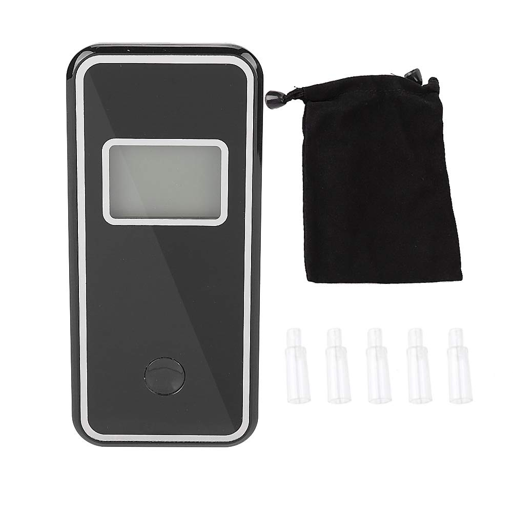 Suuonee Alcohol Tester, Breathalyzer LED Digital Display Professional Police Alcohol Tester with 5 PCS Nozzles
