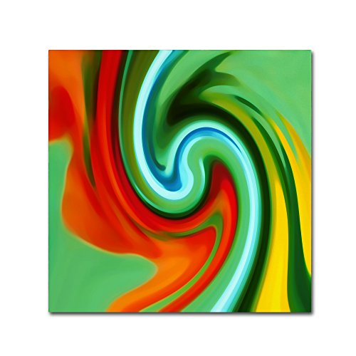 Square Amy (Abstract Flower Unfurling Square 2 by Amy Vangsgard, 24x24-Inch Canvas Wall Art)