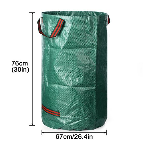 Leaves Color Bag Grass Pp Bags Garden Green ZHANGYUSEN Garbage Reusable Garden 272L Trash Refuge 272L Heavy Supplies wY7zw8q