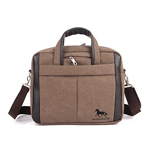 941f1cc3ca870 Outreo Herren Umhängetasche Kuriertasche Aktentasche Vintage Schultertasche  Herrentaschen Retro Messenger Bag Canvas Taschen für Laptop Tablet
