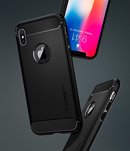 coque iphone x noir mate spigen