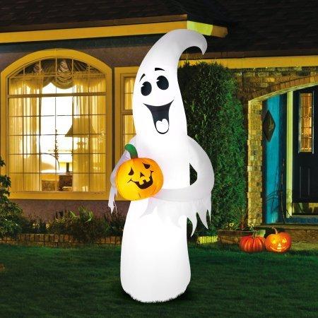 Inflatable Halloween Ghost Pumpkin 7 ft Lights Up