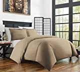 Zen Bamboo Ultra Soft 3-Piece Bamboo Derived Rayon Duvet Cover Set - Hypoallergenic and Wrinkle Resistant - King/Cal King - Taupe