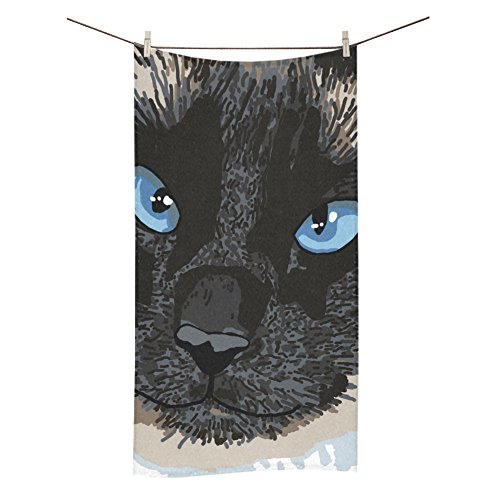 ADEDIY Fashion Custom Towel Cute Bear with Blue Eyes Bath To