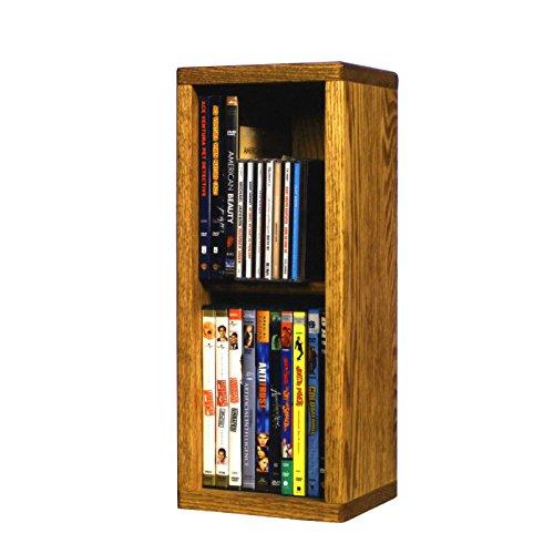 2 Row Dowel DVD Storage (Honey Oak)