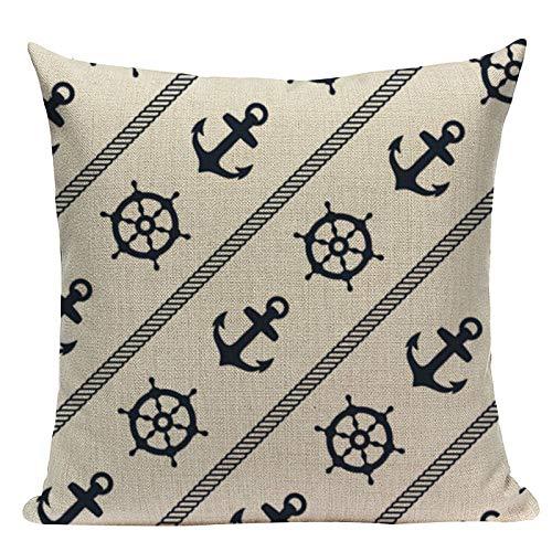 TRASWOYS Throw Pillow Case Funda de Almohada Azul náutico ...