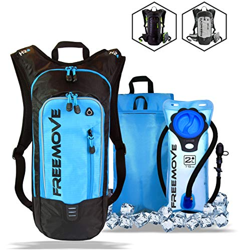 No.1 Hydration Pack Backpack with 2L Water Bladder & Cooler Bag KEEPS DRINK COOL   Lightweight - Fully Adjustable - Leakproof   Multiple Compartments   6L Capacity   Camel Pack For Sports Enthusiast