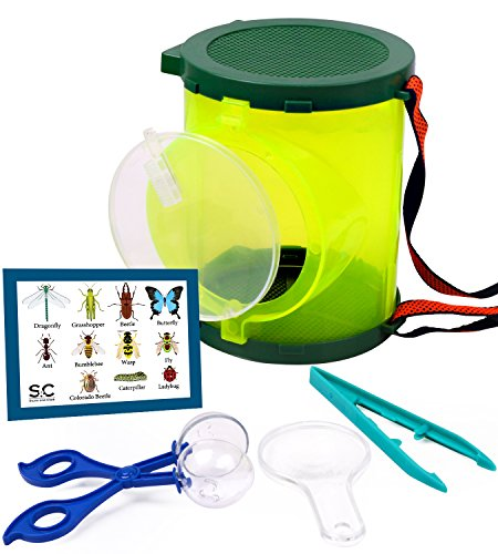 Bug Catcher Set, Backyard Exploration Kit. Includes Insect Catching Tools and Habitat Box. Outdoor Adventure Set and Nature Exploration Toys for Kids by Stone&Clark