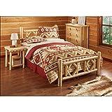 #6: CASTLECREEK Diamond Cedar Log Bed, Queen