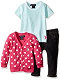 U.S. Polo Assn. Baby Girls' Polka Dot Cardigan
