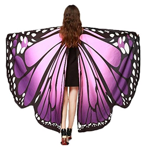 HAcostumes Soft Fabric Butterfly Wings Shawl Fairy Ladies Nymph Pixie Costume Accessory