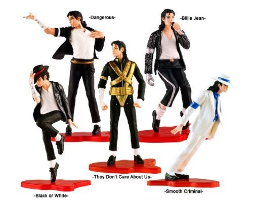 Michael Jackson Party Supplies (Set of 5 pcs Figure Box Set Michael Jackson Dolls)