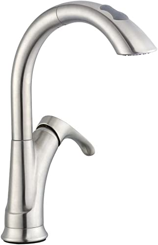 Pegasus 65717N-08104 Ginger Single-Handle Pull-Down Sprayer Kitchen Faucet in Brushed Nickel