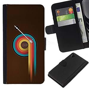 All Phone Most Case / Oferta Especial Cáscara Funda de cuero Monedero Cubierta de proteccion Caso / Wallet Case for Sony Xperia Z2 D6502 // Colorful Vinyl Retro