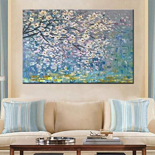 Pintura Al Oleo Flores Arbol Abstracto Moderno Pintura Al Oleo Sobre Lienzo Pared Arte Pared Cuadros Para Sala En Vivo Decoracion Del Hogar-50cmx6
