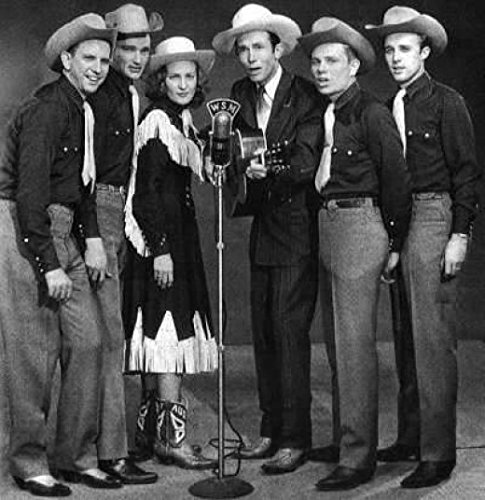 - 8 x 10 Old Vintage Photo Hank Williams Sr. With The Drifting Cowboys