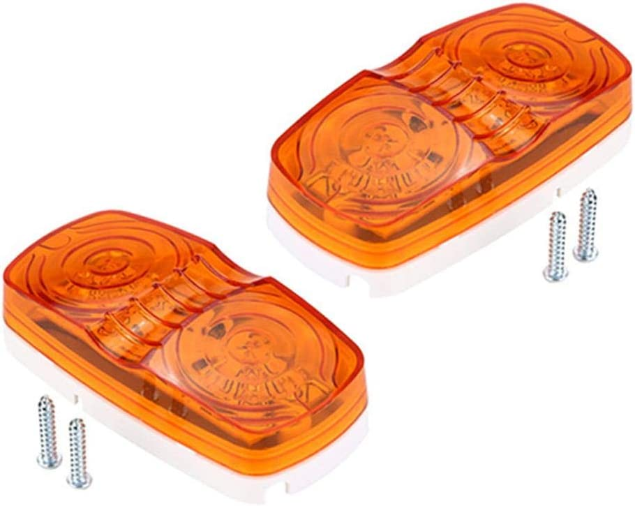Duokon 2pcs Lente /ámbar universal 10 LED Indicador de marcador lateral L/ámpara 12V Cami/ón Veh/ículo