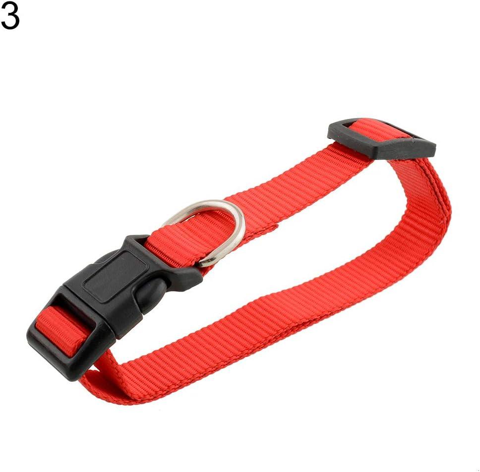 Feli546Bruce Collar, Correa de cuello de nailon ajustable duradera para perro, hebilla de liberación rápida, collar de moda, accesorios para perro