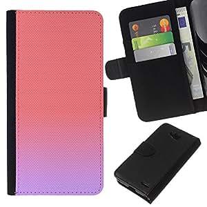 KLONGSHOP // Tirón de la caja Cartera de cuero con ranuras para tarjetas - los colores pastel de durazno rosa púrpura lindo - LG OPTIMUS L90 //