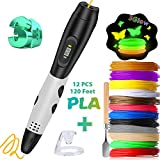 3D Pen with LCD Display, Balleenshiny 3D Doodler Drawing Printing Printer Pen with 120 Ft 1.75mm PLA Filament 3D Modeling Arts Crafts DIY Perfect Gift for Kids and Adults