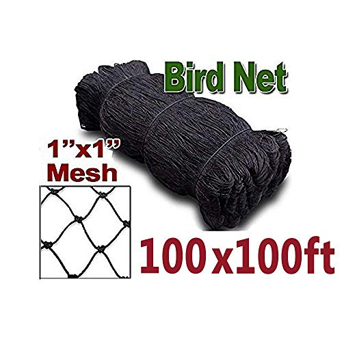 ZL 100'x100' Bird Netting for Fruit Tree Poultry Aviary Game Pen 1