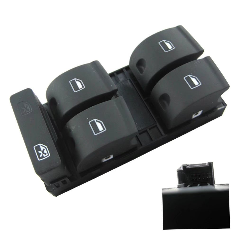 JahyShow Autoparts New Master Power Passenger Window Switch Panel Fit for Audi A4 B6 B7 Sedan Come with 4pcs Button 2002 2003 2004 2005 2006 2007 2008